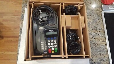 First Data Fd200 Credit Card Machine With Power Supply Pin Pad And Cables