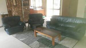 Lounge Suite 3 seater + 2 armchairs Good condition dark blue Robertson Brisbane South West Preview