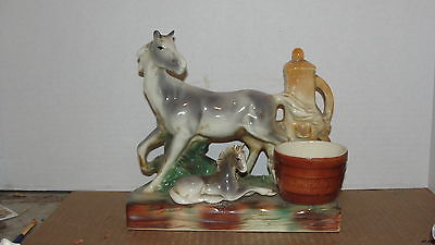 MARE & FOAL BY WATER PUMP PLANTER