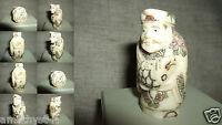Netsuke Statuina Saggio Holy Man Kimono Samurai Santone Osso Yak Bone China -  - ebay.it