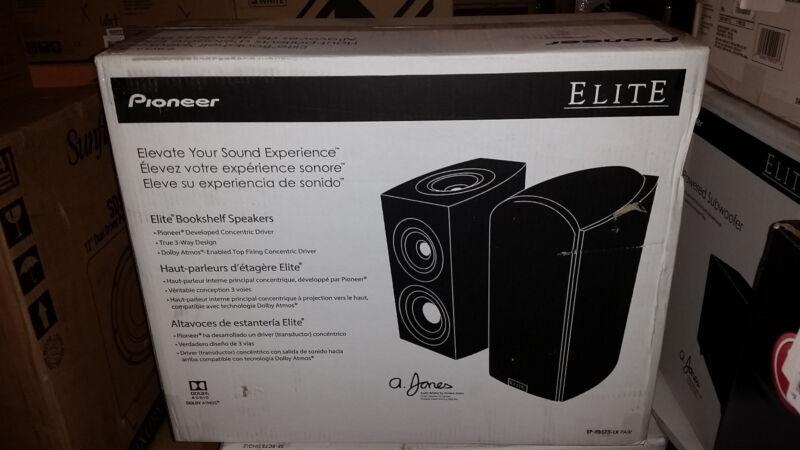 """Pioneer Elite 5-1/4"""" 3-Way Bookshelf Speakers (Pair) Black Ash Vinyl SP-EBS73-LR"""