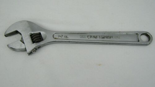 """10"""" In. Craftsman Crescent Wrench 44604 Forged USA 250 mm Adjustable Tool"""