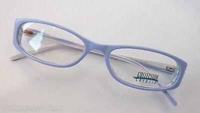 Brille mit schmalen Gläsern Damenfassung Mädchenbrille flieder-weiß Grösse S