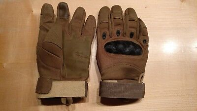 Herren Security Tactical Handschuhe Paintball Airsoft Sport Beige  gebraucht kaufen  Altbrand