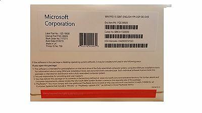 Genuine Sealed Microsoft Windows 10 Professional 32 Bit DVD with product key