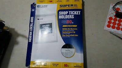 C-Line Vinyl Shop Ticket Holders, Clear, 9 x 12 Inches, 50 per Box (80912) New ()