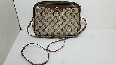 Gucci Vintage GG Monogram Supreme Canvas Leather Crossbody Bag