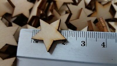 100 Stück Holz Sterne *2cm*  DekoTischdeko  Schmücken Tisch-Deko Scrapbooking