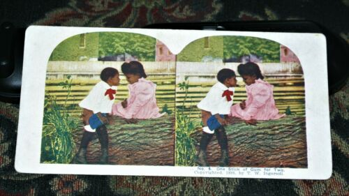 "Black Memorabilia Children 1898 Color ""   Stereoscope 3D Photos > Prints"