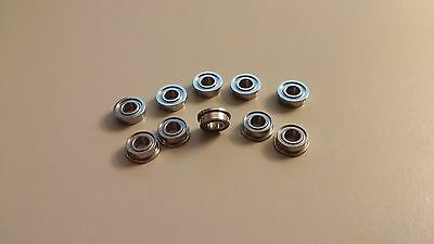 Lot Of 10 Sfr155zz Flanged Bearings 532x516x18 Inch Stainless Steel Shield