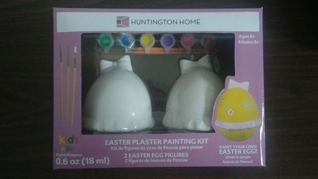 Easter Egg Plaster Painting Kitincl 2 Ceramic Figures 6 Paint Colors3