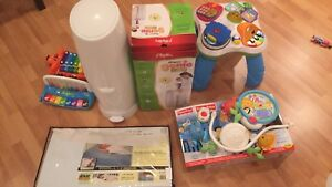 diaper genie,crib wedge,  toy,sit -stand table,crib mobile