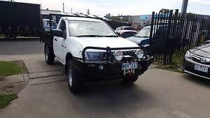 2007 Mitsubishi Triton Tray Ute TIPPER TURBO DIESEL 4X4 LOW KMS Williamstown North Hobsons Bay Area Preview