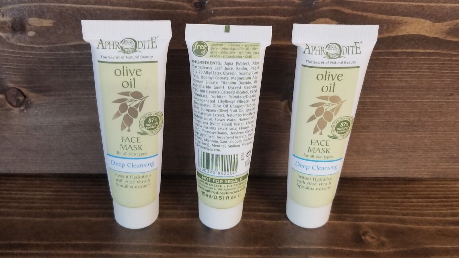 Set of  Aphrodite Olive Oil Face Mask Deep Cleansing 15 mL E
