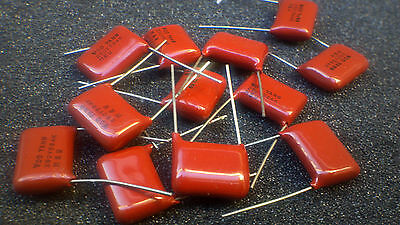 0.56uf 560nf 250v Red Polyester Capacitors 564 - 10pcs