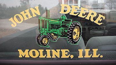 John Deere Abg506070. Window Decal. Custom Made Vinyl. 6 X 11 12
