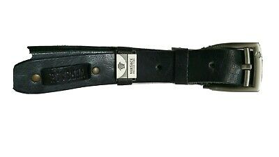 Versace mens Leather belt  Black