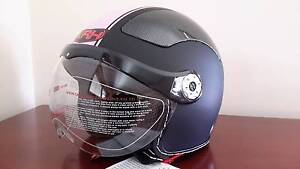 Jet Fighter / Retro Style Motorcycle Helmet Upper Coomera Gold Coast North Preview