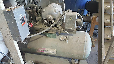 Industrial Air Compressor Champion Air Tank With A 5hp Westinghouse Motor.