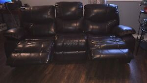 Double recliner couch