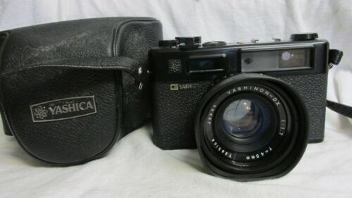 YASHICA ELECTRO 35 GT CAMERA WITH CASE PLEASE READ