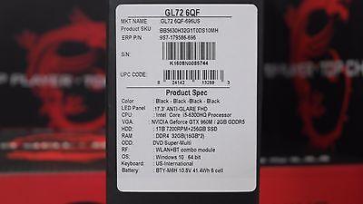 """MSI 17.3"""" GL72 i5-6300HQ 2.3Ghz Nvidia GTX 960 2GB 32GB + 256 SSD Gaming Laptop"""