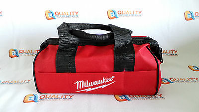 "*New* Milwaukee 13"" x 7"" x 6"" Heavy Duty Contractors Small Tool Bag L@@K"