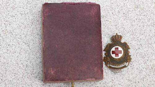 WWII BULGARIAN ROYAL RED CROSS BADGE with ORIGINAL BOX BORIS III