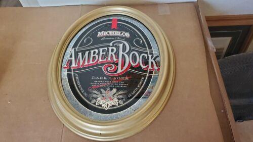 VINTAGE ANHEUSER BUSCH MIRRORED MICHELOB AMBER ROCK SIGN
