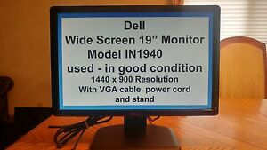 "Dell IN1940 19"" widescreen monitor"