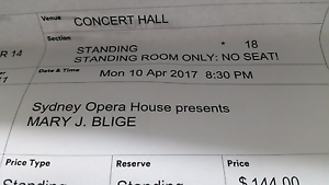 Mary J BLIGE TICKETS X 2 Appin Wollondilly Area Preview