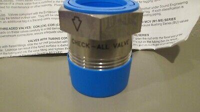 Check-all Stainless Steel Bushing Check Valve 1x14 Npt Bussvt.500ss
