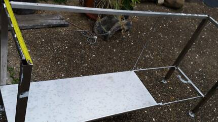 stainless steel filleting bench base with adjustable feet