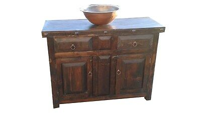 Rustic Dark Reclaimed Wood Bathroom Vanity