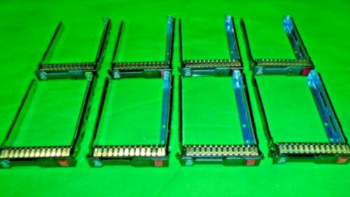 """HP Genuine G8 Gen8 651687-001 SFF 2.5"""" Tray Caddy w/screws w/CHIP  LOT OF 8   @4"""