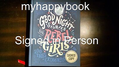SIGNED Good Night Stories for Rebel Girls by Elena Favilli Francesca Cavallo new