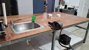 Work Bench - Steel frame with marine ply bench top Lane Cove West Lane Cove Area Preview