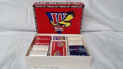 Winston Tobacco Advertising Poker Set 1993   unopened sealed