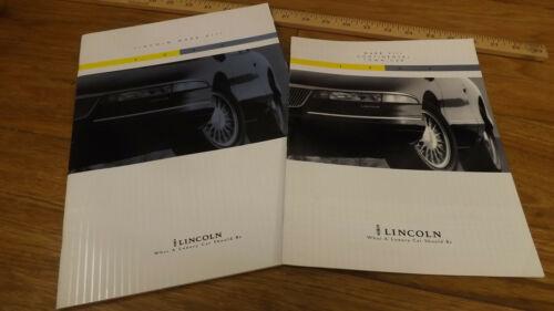 (2) 1994 Lincoln Mark VIII Dealer Sales Brochures Lrg & Sm Formats