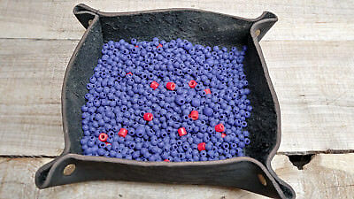 Beads 175 gram bag, purple and red, mixed sizes-L-9-29