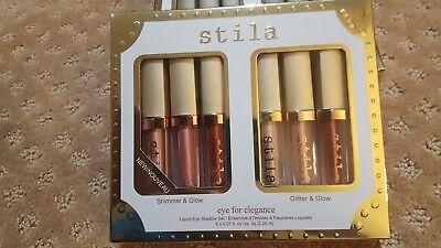 STILA Liquid Eye Shadow 6pc Set 2017 eye for elegance Holiday Gift NIB $72 value