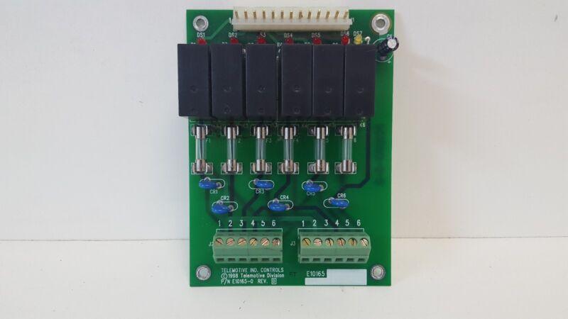 GUARANTEED GOOD USED! TELEMOTIVE RELAY BOARD E10165-0