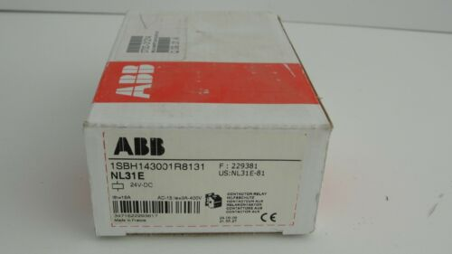 ABB NL31E contactor relay 1SBH143001R8131 24 vdc new