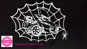 CAN-AM SPYDER RT- WEB WITH SPIDER WINDOW DECAL/STICKER - 13 COLORS
