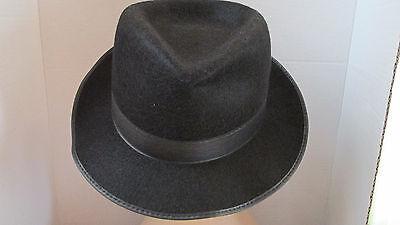 Gentlemen's Black Fedora Costume Halloween Hat