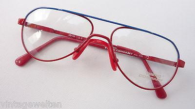 Kinderbrillen für Jungen+Mädchen blau-rot mit Federbügel preiswert günstig Gr. M