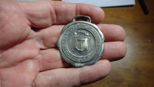 RARE STATE OF RHODE ISLAND WATCH FOB RHODE ISLAND STATE POLICE  BX D #1