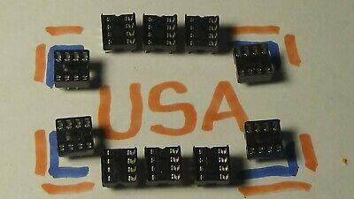 10pcs - 8 Pin Dip Socket - Dip 8 Socket - Ships Today