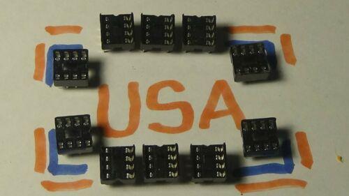 10pcs - 8 Pin Dip Socket - Dip 8 Socket - Ships Today!
