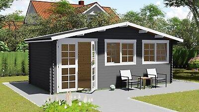Gartenhaus Mit Schlafb 45 Mm Inkl Lieferung U Montage 4 X 6m 2 5 M